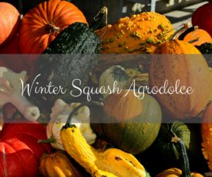 Winter Squash Agrodolce